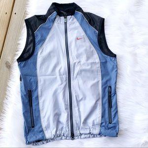 Nike Vintage Blue Zip Athletic Vest